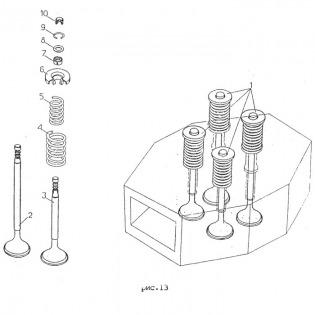 Клапаны впускной и выпускной 09гр