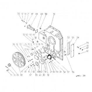 Привод масляного насоса, вентилятора и фильтры гр34